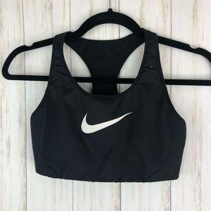 Nike medium black sports bra